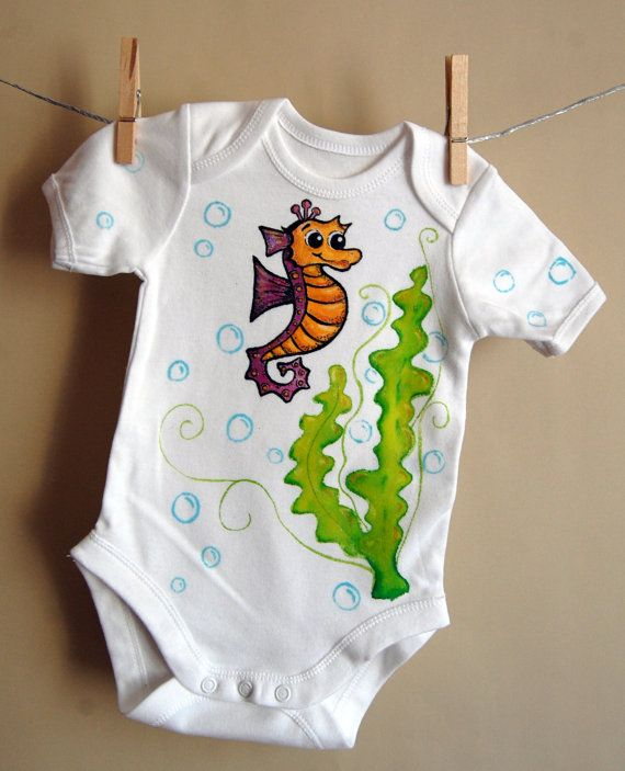 Under the sea short sleeve bodysuit for babies  with by maLOVEnia, $20.00