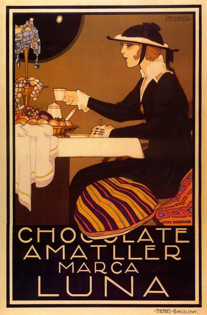 Vintage Food Posters | Chocolate Amatller - Vintage Food And Drink Posters Wallpaper Image