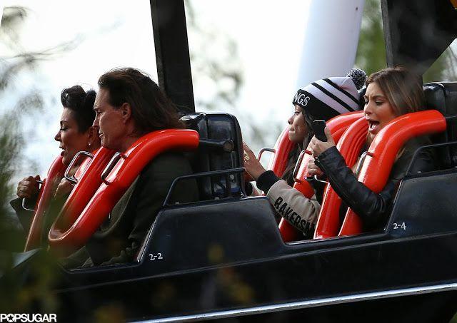 Celeb Diary: Familia Kardashian & Jenner @ Six Flags Magic Mountain