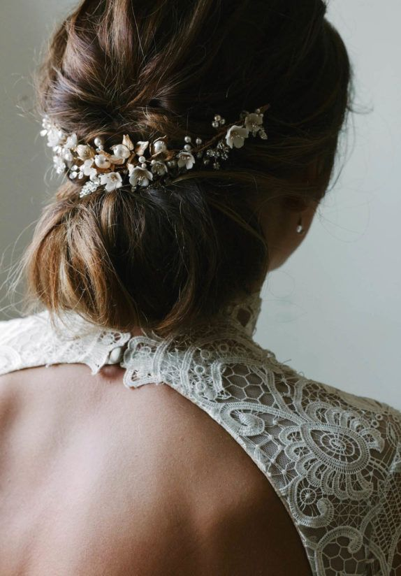 SOMERSET floral bridal headpiece | TANIA MARAS