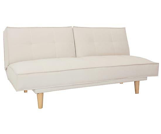 Dreisitzer-Futonsofa Sandy mit Schlaffunktion, beige, B 185 cm