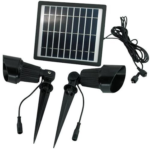 Commercial Grade Dual Solar Spot Light Kit Greenlytes Solar Spot Lights Solar Spot Lights Outdoor Best Solar Lights