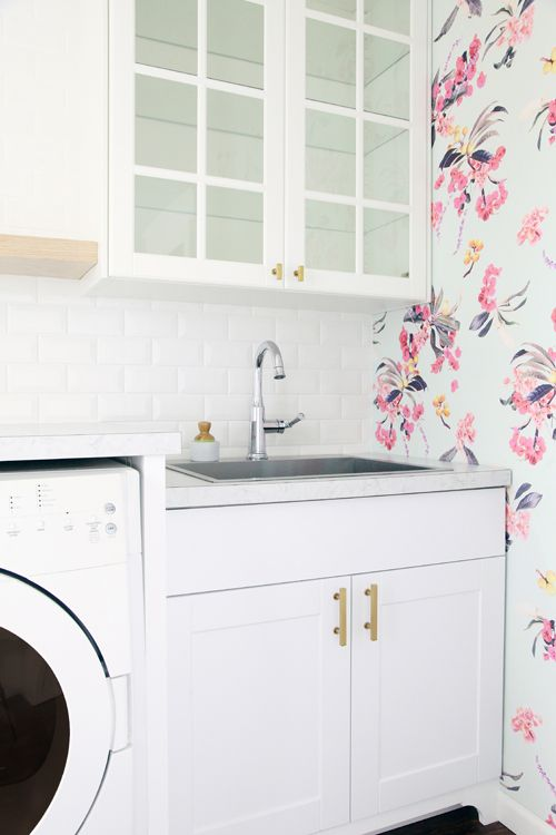 43 Laundry Room Check In: Tile And Wallpaper Sneak Peeks Part 88