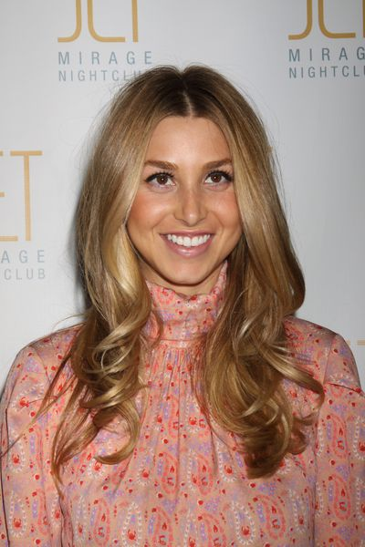 Whitney Port with Half Straight and Half Curly