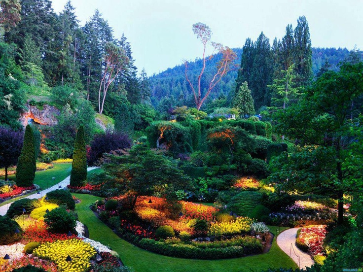 This garden looks purely magical. I could walk around here for ...