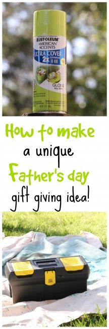 How to make a unique Father's day gift giving idea. #Givebakerybecause