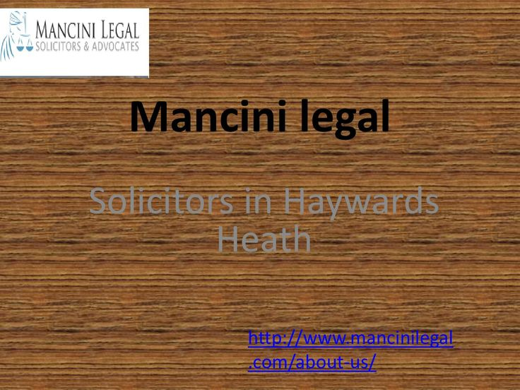 Mancini legal solicitors in wills crawley town