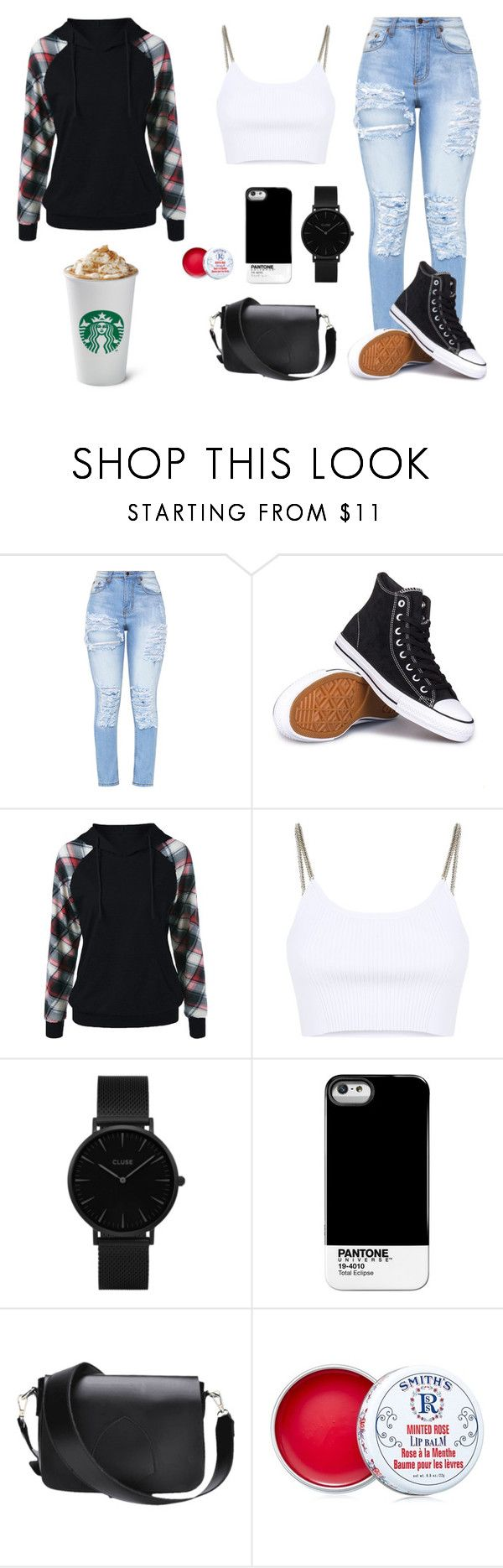 """""""Untitled #104"""" by ko3y66 on Polyvore featuring Converse, Alexander Wang, CLUSE, Pantone Universe and Smith's"""