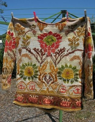 Morris Wallpaper sweater handknit by color4texture on Ravelry..