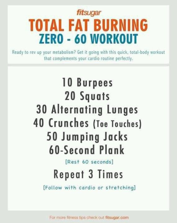 Fat Burning Workout for even better results run a mile before and after