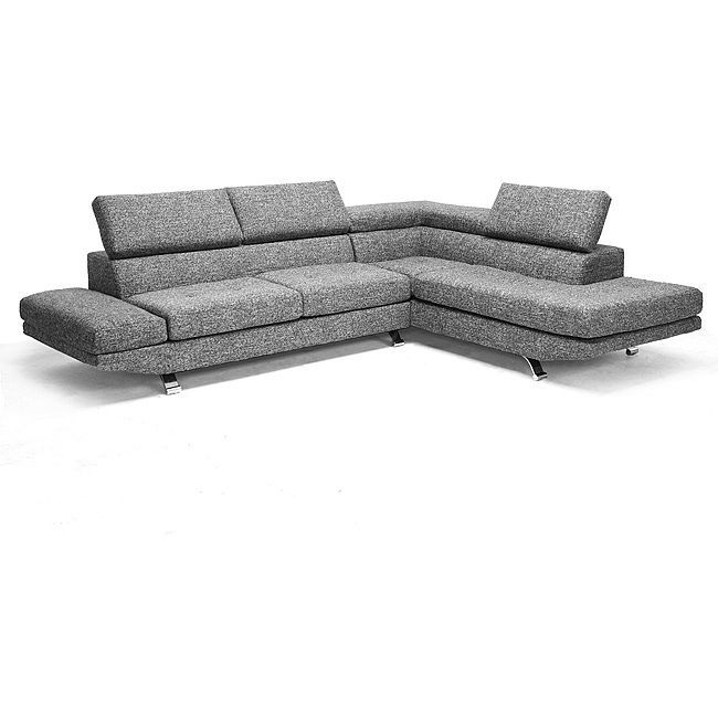 adelaide gray twill fabric modern sectional sofa overstock shopping big discounts on baxton studio sectional sofas