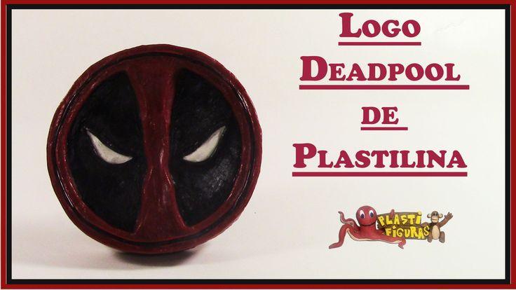 Como Hacer Logo Deadpool de Plastilina/Porcelana Fria/How To Make Deadpo...