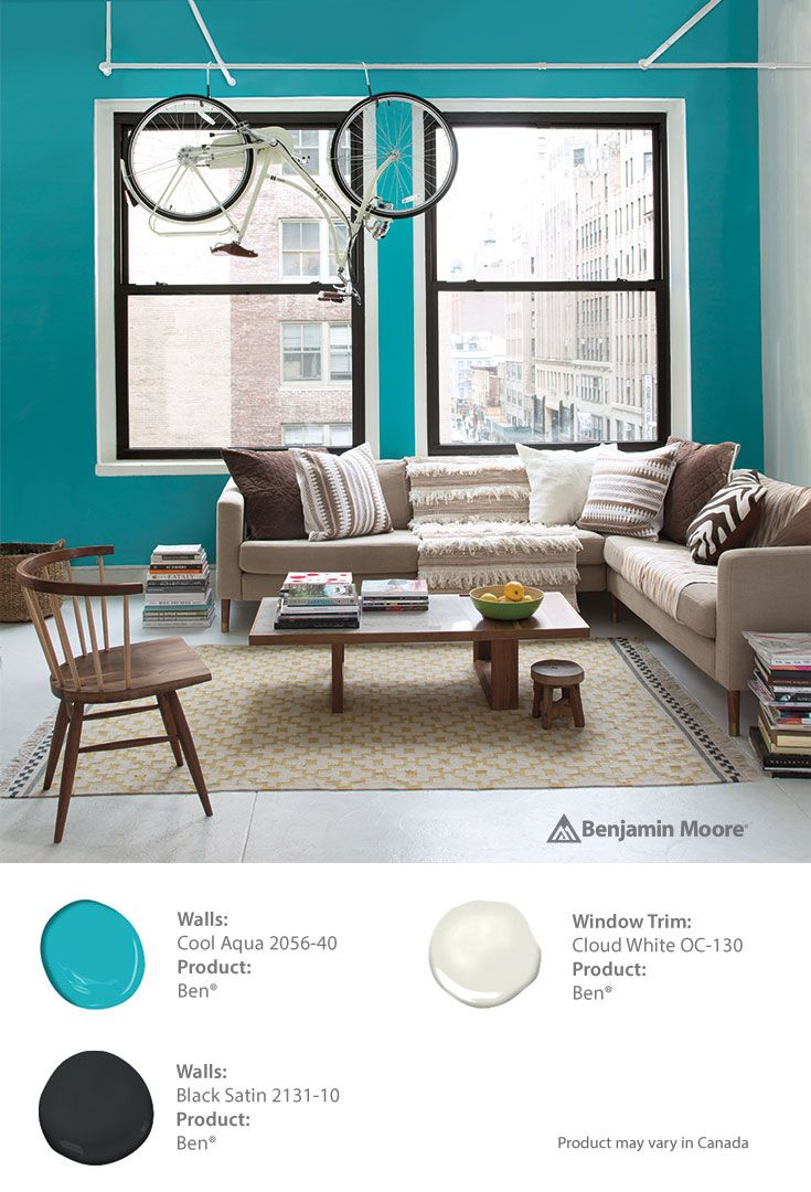 Try Cool Aqua In Ben® By Benjamin Moore For A Rejuvenating Focal Point.  Ben® Is The Perfect Paint For Getting Creative From Small Spaces To DIYs.