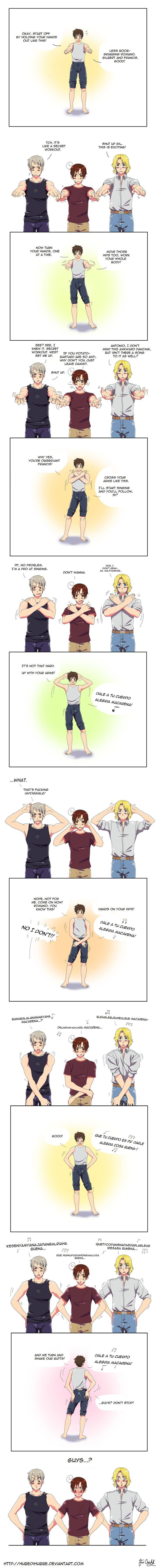 "They all want me! They can't have me! (""Hetalia ~~ ♫ Do the Macarena ♫ :: Dat ass by ~Hubedihubbe on deviantART"")"