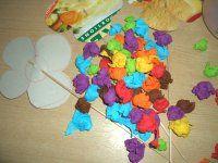 Krepppapierblumen