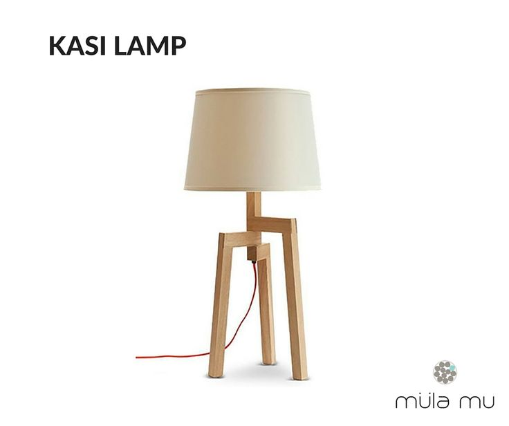 The KASI LAMP serves as the perfect bedside table lamp as it is simple, sleek and won't take up too much surface space. Its three wooden legs act like a stable tripod that hold the bulb and shade upright, discouraging the structure from toppling over.  Dimension: 350 x 350 x 700 mm  *Price does not include light bulbs. http://www.mulamu.com/product/kasi-lamp/