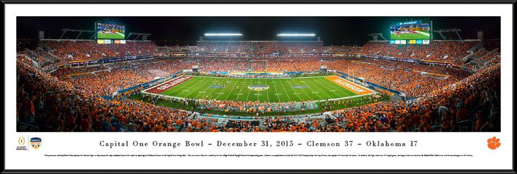 2015 Orange Bowl Panoramic Picture - Sun Life Stadium Poster