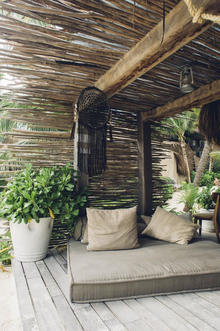 Where To Stay In Tulum Outdoor Rooms Tulum Hotels Backyard