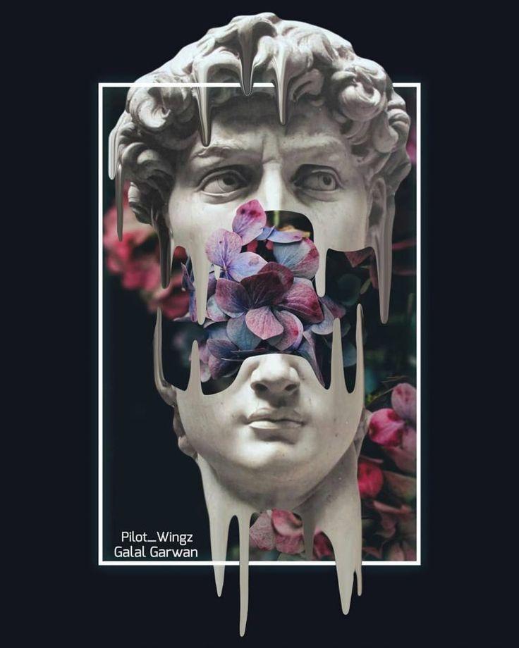 Melting 💧 by Galal Garwan   Vaporwave art, Aesthetic ...