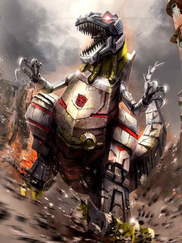 Dinobots Leader Grimlock Artwork From Transformers Legends Game