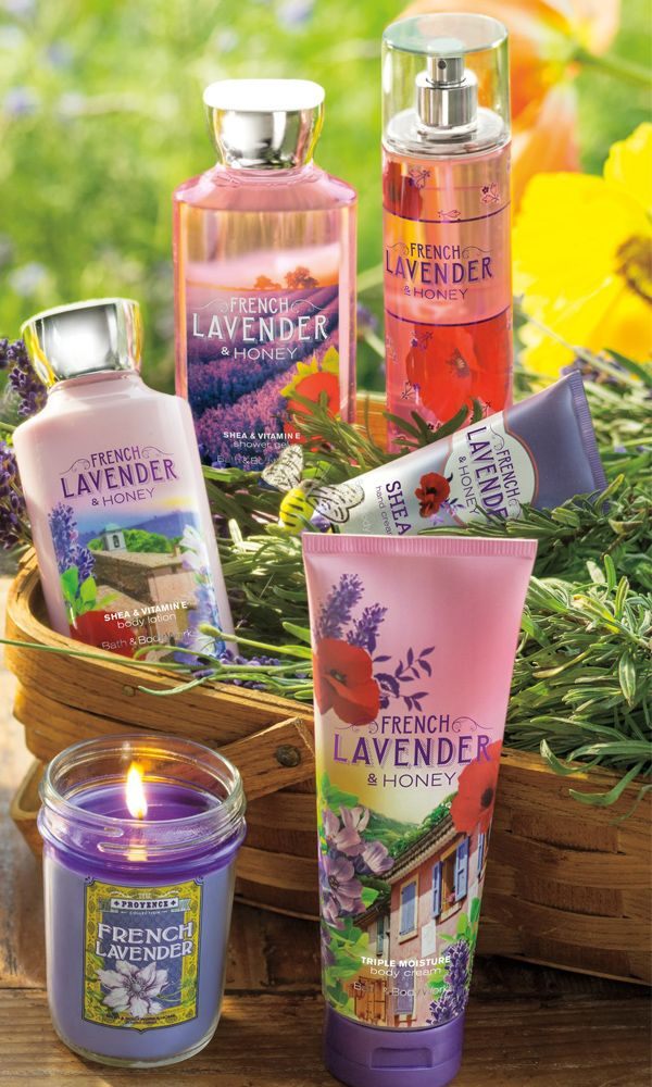 A romantic bouquet of French lavender, nectarine de Provence & sun-kissed honey.