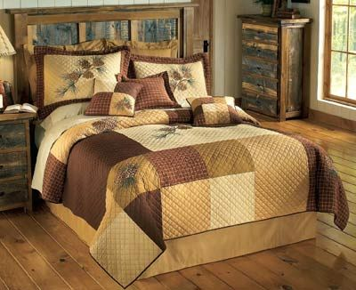 Pinecone Square Quilt Collection Full Quilt Set