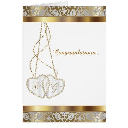 Wedding Congratulations for Bride and Groom Card - gold wedding gifts customize marriage diy unique golden