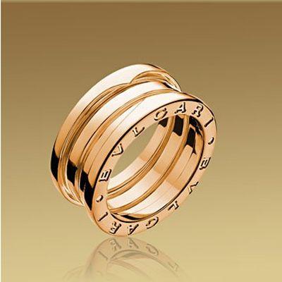 bvlgari bzero1 14kt rose gold 4band ring