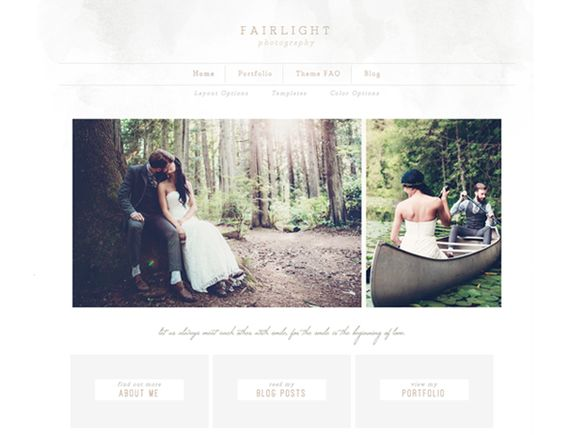 Fairlight Genesis Child Theme. A wonderful and elegant WordPress theme for photographers. It would be perfect for a wedding photographer's website or portfolio. #afflink