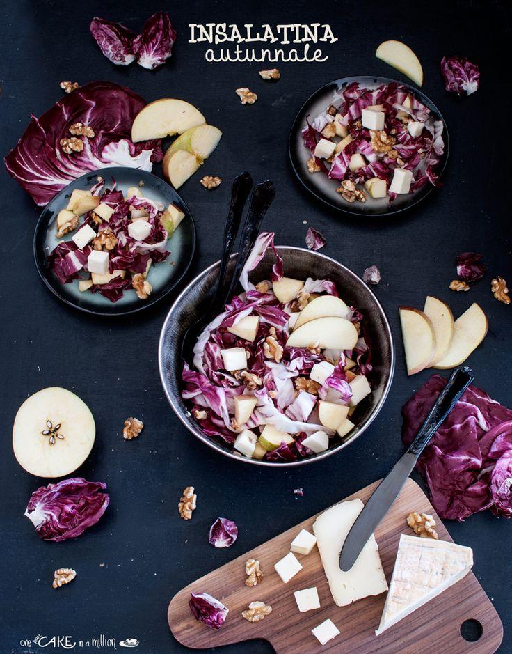 Insalatina Autunnale: radicchio, mele, noci e taleggio _ Autumn salad : radicchio , apples , walnuts and taleggio cheese