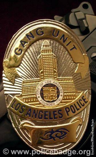 Badge LAPD Gang Unit by dynamicentry122, via Flickr