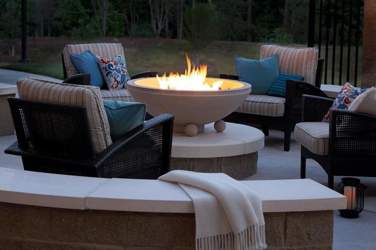 Relaxing is easiest around a warm firepit.