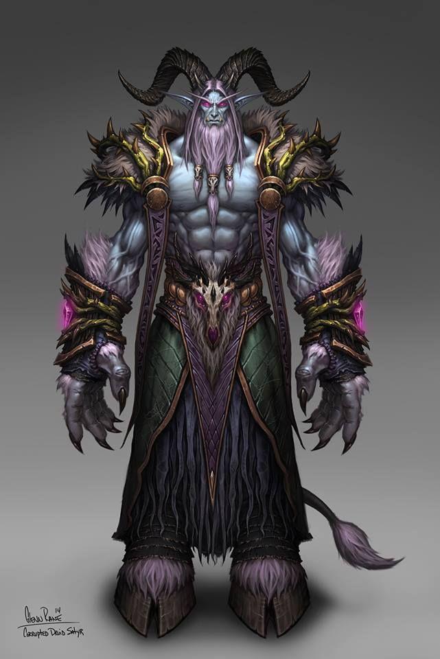 Glenn Rane | https://www.facebook.com/GlennRaneArt/ | Corrupted Druid Satyr from…