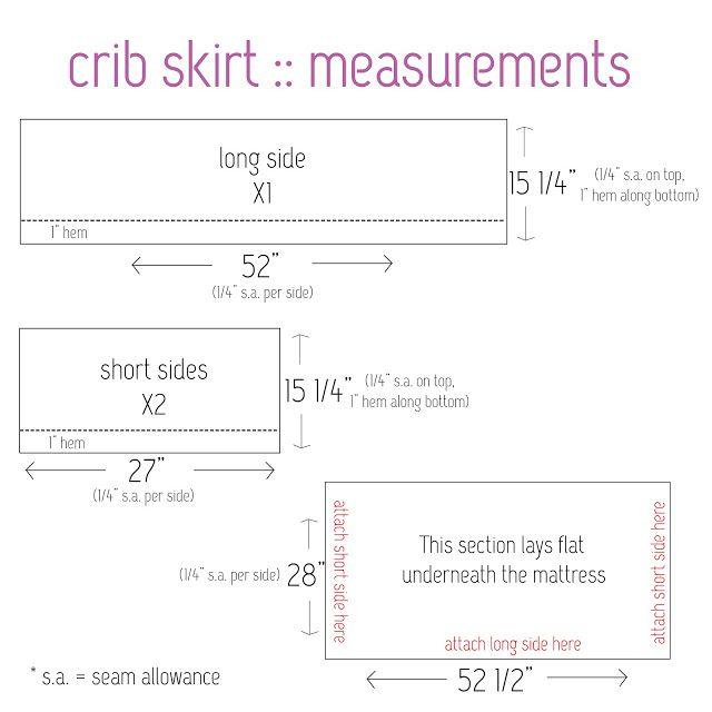 crib bedding 101: crib skirt tutorial