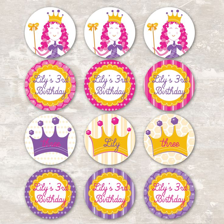 Pin Free Printable Princess Birthday Cupcake Toppers Party Cake On