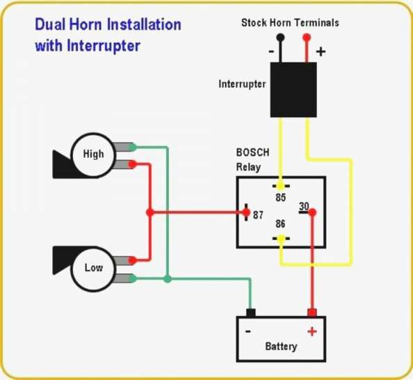16 Motorcycle Horn Relay Diagram Motorcycle Diagram Wiringg Net Car Horn Motorcycle Wiring Electrical Circuit Diagram