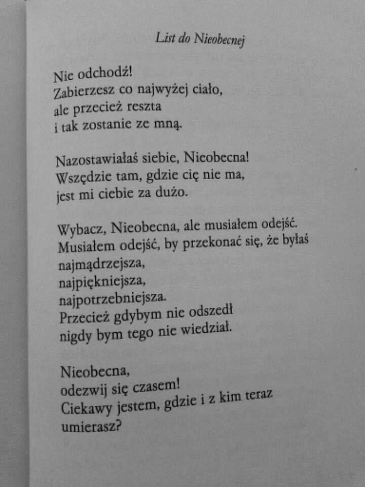"""""""List do nieobecnej""""  Jarosław Borszewicz"""