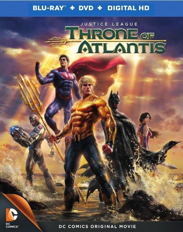 Portada y detalles de Justice League: Throne of Atlantis