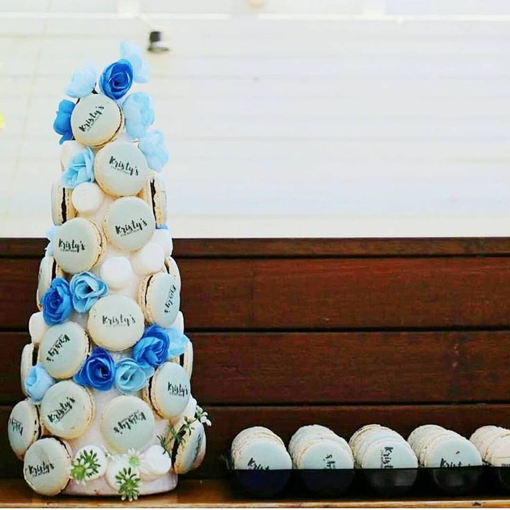 Look how beautifully this Macaron tower is making itself different from those usual Macaron towers P.S- This customized Tower proves to be a perfect centerpiece for your birthday parties, weddings and get togethers