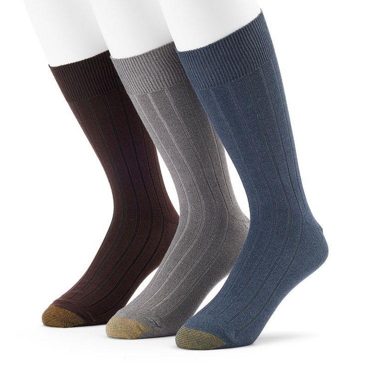 Men's GOLDTOE 3-pack Hampton Fashion Dress Socks, Size: 10-13, Ovrfl Oth