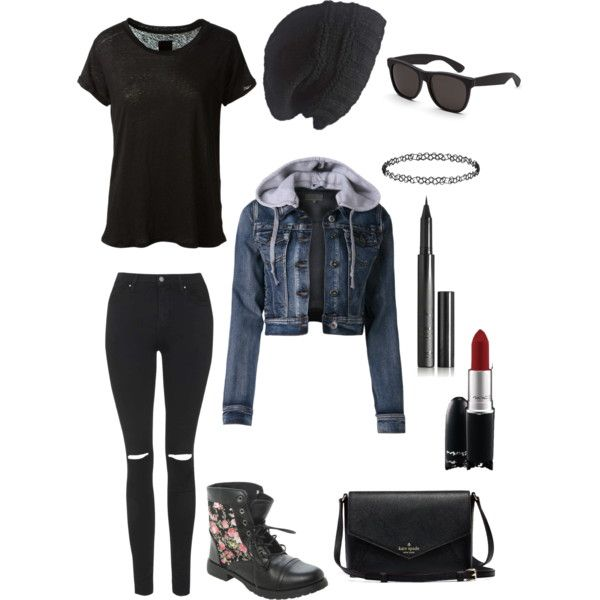 you never outgrow punk #1 by alykat-1 on Polyvore featuring polyvore, fashion, style, RtA, Topshop, Dorothy Perkins, RetroSuperFuture, Laundromat, Surratt and MAC Cosmetics