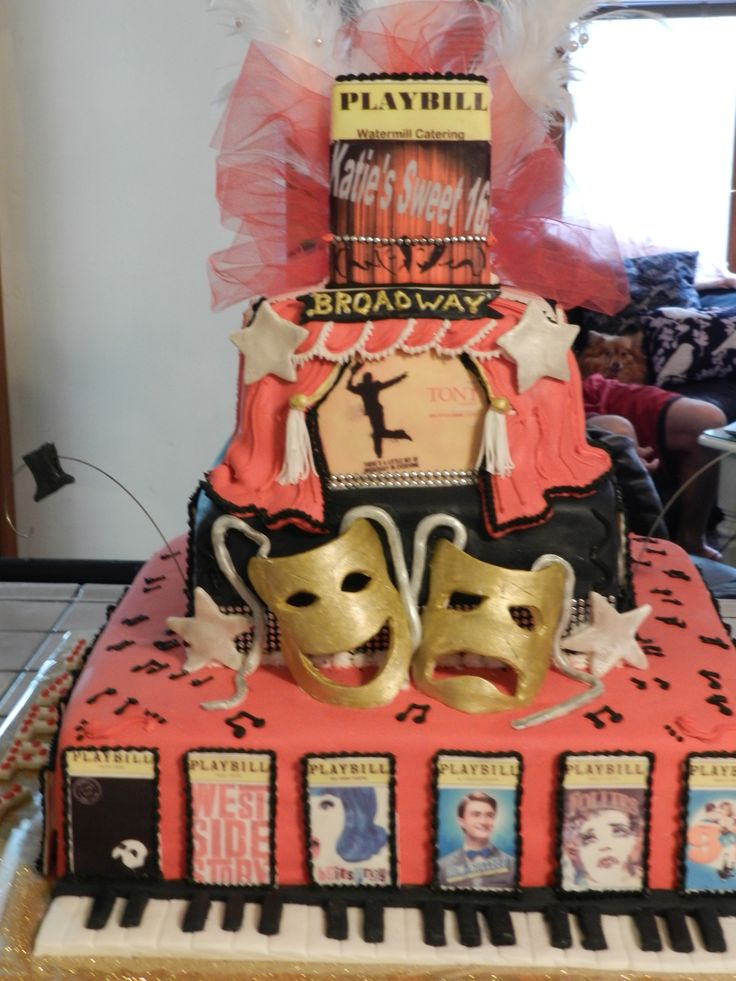 33 best images about theatre show themed cakes on for Broadway themed bedroom ideas
