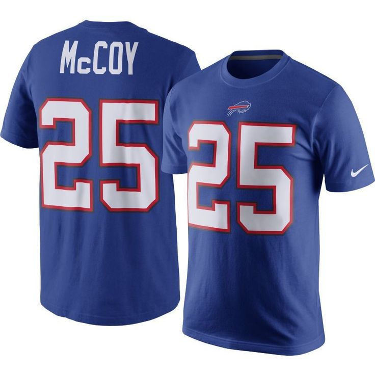 Nike Men's Buffalo LeSean McCoy #25 Pride Blue T-Shirt, Size: Medium, Team