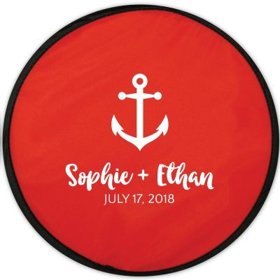 Personalized Flexible Flying Disc With Matching Pouch #beachfrontoccasions #beachfavor #beachfavors #beachpartyfavors #weddingfavor #weddingfavors #partyfavors #personalizedfavors #nauticalfavors #nauticalpartyfavor