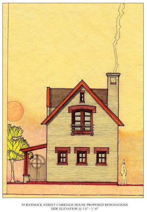 7 best very small house in denver images on pinterest denver proposed street elevation scheme adrawn on yellow tracing paper in pencil malvernweather Gallery