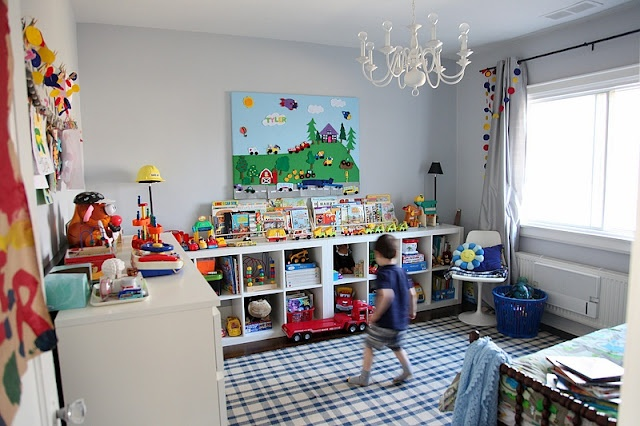 Really cool transportation-themed boy's bedroom with awesome diy feltboard