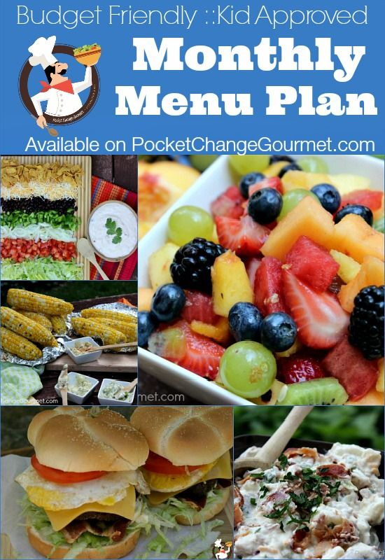 Budget Friendly :: Kid Approved Monthly Menu Plan | Available on PocketChangeGourmet.com