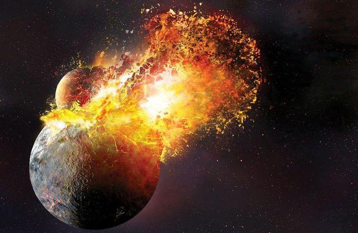 """EL MISMO IMPACTO QUE CREÓ LA LUNA FORMÓ TAMBIÉN LA CORTEZA TERRESTRE Una nueva hipótesis postula que los elementos de la corteza """"llovieron"""" sobre la superficie desde la atmósfera temprana, muy densa tras un enorme impacto, el mismo que también dio origen a la Luna."""