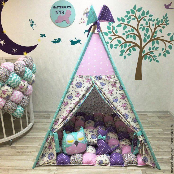 Купить Нежно сиреневый вигвам для принцессы. - фиолетовый, вигвам, Палатка, вигвам детский, палатка детская