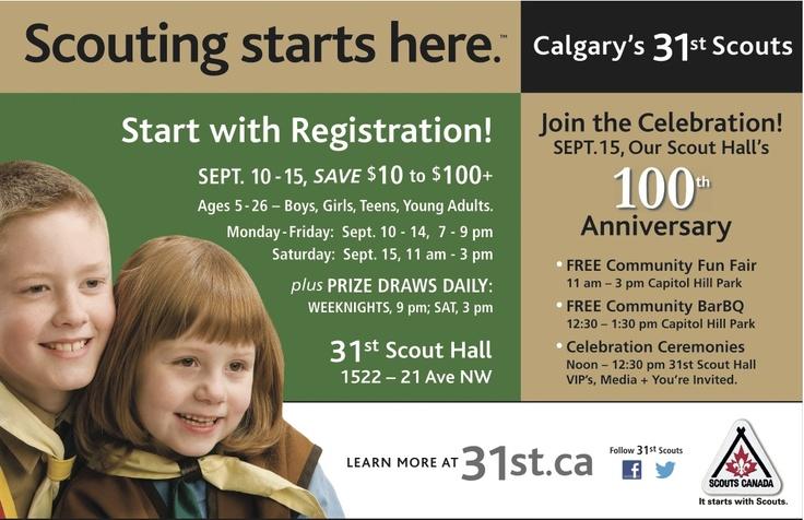 Start with Registration, Sept. 10 - 15. Join the Celebration, Sept. 15.